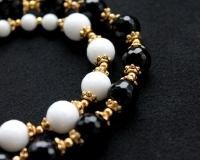 Black and white necklace with agates